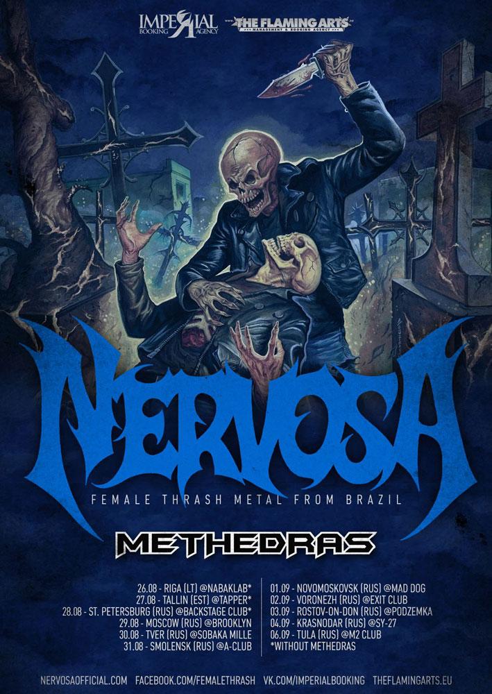 Nervosa Russian Tour 2015