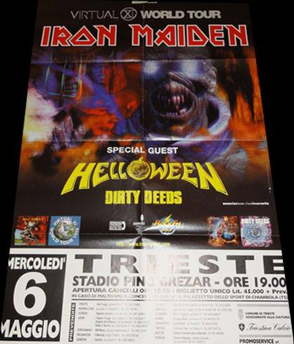 Iron Maiden, Virtual XI World Tour, 6.5.1998 @Trieste