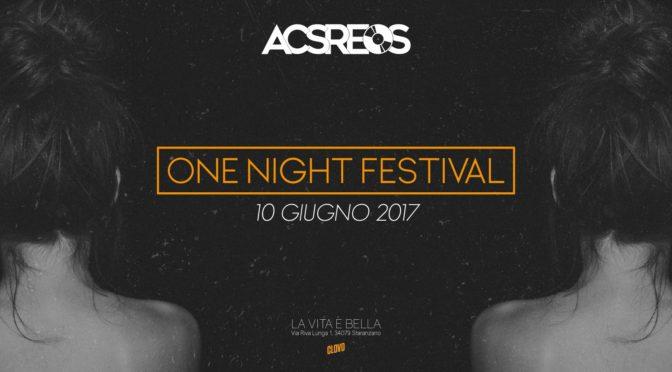 One Night Festival: il 10 giugno dodici ore di musica agli ex Alberoni di Staranzano
