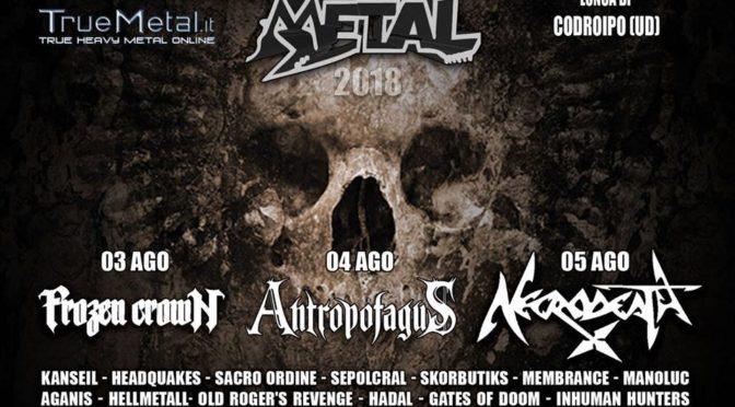 Summer Metal 2018 @Lonca di Codroipo (UD): il bill completo