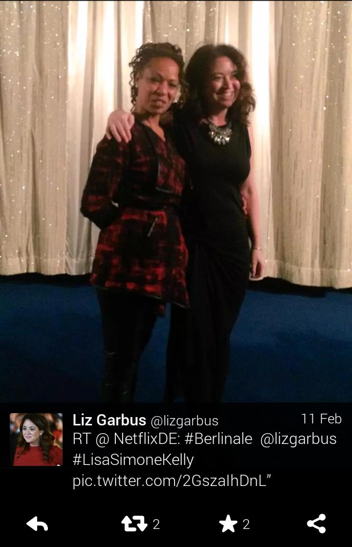 Liz Garbus con Lisa Simone, figlia di Nina