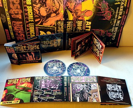 """UPSET NOISE """"Nothing more to be said / Growing Pain + Live 1986"""" cd/dvd, F.O.A.D. Records (2015)"""