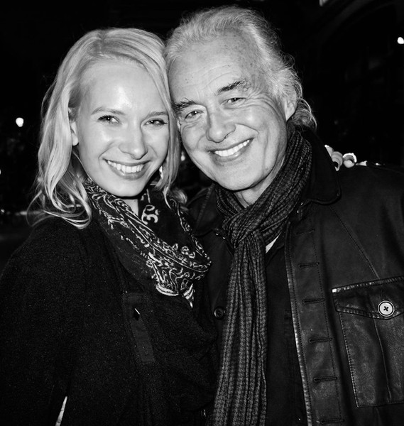 Katarina Benzova con Jimmy Page