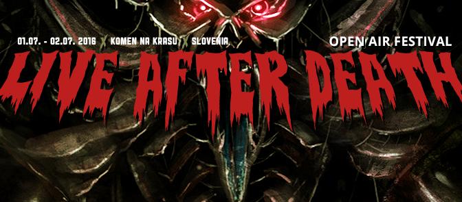 Live After Death Festival, 1-2 luglio @Komen sul Carso