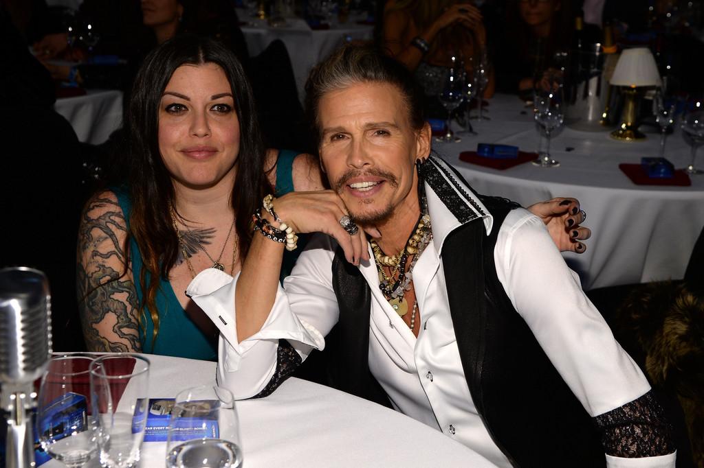 Steven Tyler con la figlia Mia