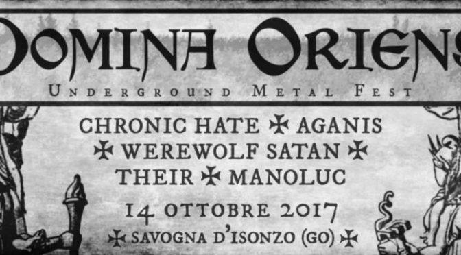 Domina Oriens Underground Metal Fest: a Savogna la prima edizione